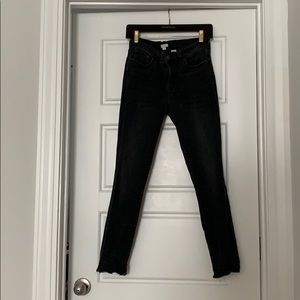 JCrew Sz 28 Stretch Black Skinny Jeans